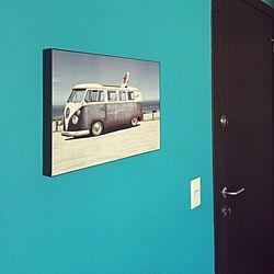 壁/天井/アクセントカラー/青い壁のインテリア実例 - 2015-05-18 22:42:31