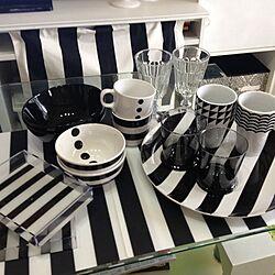 キッチン/白黒/IKEA/しましま/ボーダー...などのインテリア実例 - 2014-09-24 16:07:43