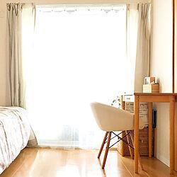 ベッド周り/シンプル/フェイクグリーン/シンプルインテリア/インコと暮らす家...などのインテリア実例 - 2018-05-04 15:44:16