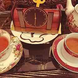 机/ジャンポールエヴァン/クリスマスケーキ/ティータイムのインテリア実例 - 2017-12-24 23:58:43