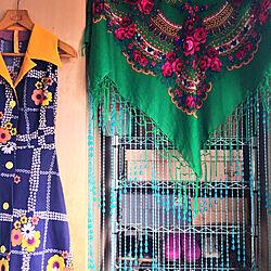 ベッド周り/ビーズのれん/プラトーク/花柄/カラフル...などのインテリア実例 - 2018-06-09 05:04:37
