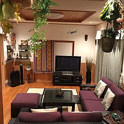 リビング/アジアンテイスト/ドライフラワー/ソファのインテリア実例 - 2017-09-24 07:42:26