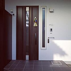 玄関/入り口/ダイソー/しめ縄飾り/わらルック/2世帯住宅の2階...などのインテリア実例 - 2021-01-04 10:08:06
