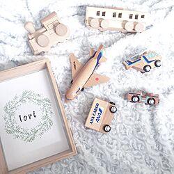 机/リース/おもちゃ/飛行機グッズ/木のおもちゃ...などのインテリア実例 - 2016-09-08 00:11:02