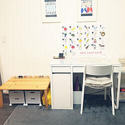 机/キッズスペース/無印良品家具/IKEAミッケシリーズ/パイン材テーブル・折りたたみ式...などのインテリア実例 - 2020-09-23 14:06:33