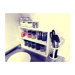キッチン/調味料棚/調味料ラック/調味料瓶/調味料ボトル...などのインテリア実例 - 2015-03-09 23:57:48