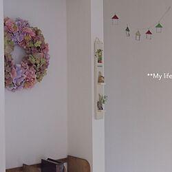 玄関/入り口/ハンドメイド/お家型ガーランド/ステンドグラスのインテリア実例 - 2013-09-23 10:10:35