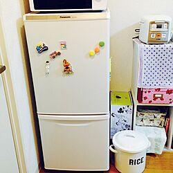 キッチン/Panasonic/冷蔵庫/一人暮らし/白い家具...などのインテリア実例 - 2016-08-03 21:19:25