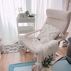 ダークブラウンの床/パーソナルチェア/買ってよかったモノ/椅子/ホワイト...などのインテリア実例 - 2021-06-20 13:29:14