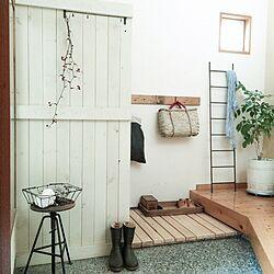 玄関/入り口/DIY/和/目隠しのインテリア実例 - 2015-04-24 07:44:22