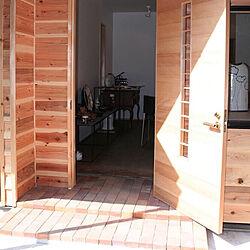 施主支給/レンガ/外壁の壁/造作ドア/材木...などのインテリア実例 - 2019-07-14 06:24:27