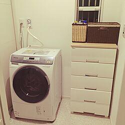 バス/トイレ/白い壁/脱衣所/新築一戸建て/ドラム式洗濯機Panasonic...などのインテリア実例 - 2016-03-18 18:41:21