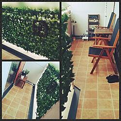 玄関/入り口/団らんスペース/ベランダ改造計画/観葉植物のある暮らし/観葉植物...などのインテリア実例 - 2020-07-22 23:08:55