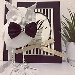部屋全体/ふくろう=幸せを運ぶ鳥/ふくろうの置物/デコレーション/ニトリのインテリア実例 - 2017-02-17 00:32:58