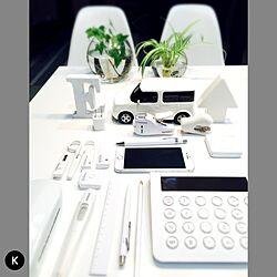 白/文具/机/観葉植物/Whiteのインテリア実例 - 2015-04-10 11:52:26