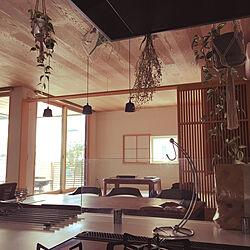 部屋全体/一枚板のダイニングテーブル/和室 障子/観葉植物 フェイク/和室...などのインテリア実例 - 2018-09-10 20:12:28