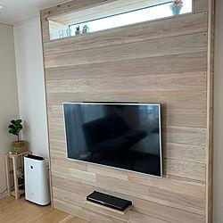 ラブリコで壁掛けテレビ/ラブリコアイアン/ラブリコ/DIY/観葉植物...などのインテリア実例 - 2020-11-25 07:38:43