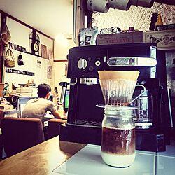 キッチン/コーヒーメーカー/アイスコーヒー/コーヒー/メイソンジャーのインテリア実例 - 2015-06-13 13:12:31