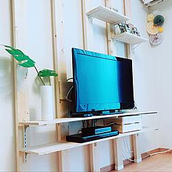 リビング/木のぬくもり/2×4で作る家具/テレビボードDIY/お正月...などのインテリア実例 - 2018-01-02 21:17:16