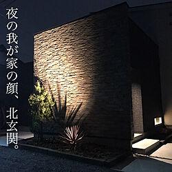 北玄関/照明計画/ニチハのサイディング/外構/石壁...などのインテリア実例 - 2019-10-03 20:41:15
