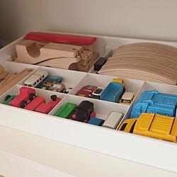 おもちゃ/無垢床/おもちゃ収納/リノベーションマンション/ミニマムライフのインテリア実例 - 2018-06-21 18:58:43