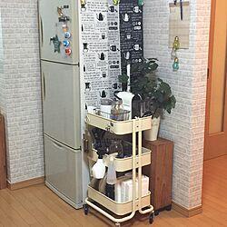 キッチン/ティッシュ収納/収納アイデア/IKEA/掃除機の収納...などのインテリア実例 - 2016-08-23 00:02:59