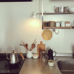 キッチン/野田琺瑯/無印良品/シンプルのインテリア実例 - 2016-11-05 09:19:50