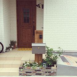 玄関/入り口/玄関ドア/ポスト/玄関マット/ブルーベリーの木...などのインテリア実例 - 2018-05-29 13:43:56