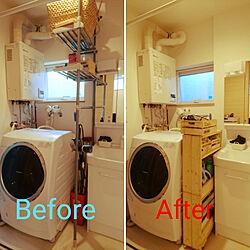 バス/トイレ/たな 収納/脱衣室収納/狭いスペースを生かしたい/DIY 棚のインテリア実例 - 2017-07-31 20:12:06