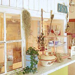 棚/シュガーバイン/お部屋改造/板壁DIY/モザイクタイル貼り...などのインテリア実例 - 2014-07-05 07:46:11