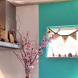こどものいる暮らし/女の子のママ/雛祭りインテリア/雛祭りのディスプレイ/季節の移り変わりを楽しむ...などのインテリア実例 - 2020-02-24 21:53:39