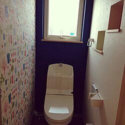 バス/トイレ/壁紙 北欧/二階のトイレ♡/二階のトイレ/二階トイレ...などのインテリア実例 - 2015-04-22 21:48:57