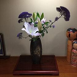 白い花/紫の花/夕霧草/百合の花/あたたかい暮らし...などのインテリア実例 - 2020-05-20 16:21:28