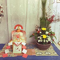 玄関/入り口/お正月/お花/フラワーアレンジメント/雑貨...などのインテリア実例 - 2018-01-16 02:34:43