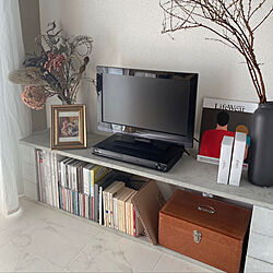 テレビ台DIY/テレビボード/RoomClipアンケート/本棚/雑貨...などのインテリア実例 - 2021-03-07 22:37:02