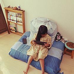 ベッド周り/フェリシモ/こどもと暮らす/すきな物に囲まれて暮らしたい/フェリシモクッション...などのインテリア実例 - 2018-10-21 14:54:44