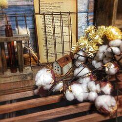 棚/コットンフラワー/サビハウス/焼き網/洋書のインテリア実例 - 2013-11-12 09:35:04