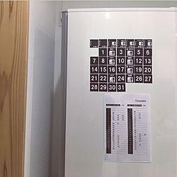キッチン/ゴミ捨てカレンダー/時刻表/10分でできる/生活感をなくしたい...などのインテリア実例 - 2017-06-02 02:26:10
