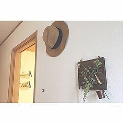 玄関/入り口/karinto base/セリア/帽子/関西好きやねん会...などのインテリア実例 - 2016-06-30 16:37:11