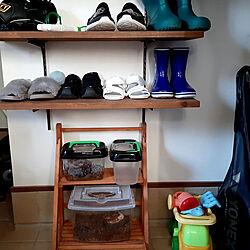 玄関/入り口/靴箱/稼働だな/子供の靴/虫かご...などのインテリア実例 - 2020-08-16 17:42:43