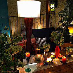 キャンドルのある暮らし/スタンドライト/ライトアップ/テーブルコーデ/お花を飾ろう...などのインテリア実例 - 2020-07-03 21:56:58