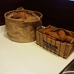 キッチン/セリア/根菜類の見せる収納のインテリア実例 - 2014-12-24 09:45:53