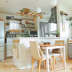 キッチン/♡ ありがとうございますm(_ _)m/観葉植物/フェイクグリーン/手作り...などのインテリア実例 - 2017-09-29 18:15:57