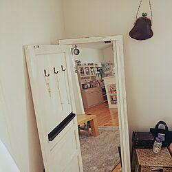 リビング/どこでもドアみたいな姿見/kawakoboのインテリア実例 - 2014-12-24 11:21:14