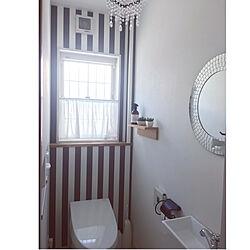 トイレインテリア/クロス貼り替えました/トイレの壁紙/トイレの壁/トイレ...などのインテリア実例 - 2019-08-02 16:11:14