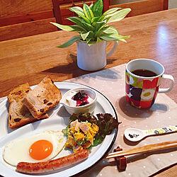 リビング/おうちカフェに憧れて/朝食photo♥/見てくださってありがとうございます/フォロワーさん1000人感謝です‼...などのインテリア実例 - 2018-01-28 20:52:40