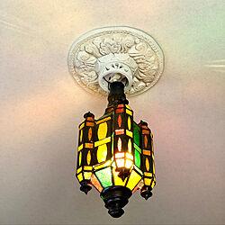 壁/天井/手作り/プチプラ/寝室の照明/ステンドグラス...などのインテリア実例 - 2018-05-23 13:38:11