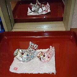 玄関/入り口/節句飾り/ガラス鯉のぼり/塗り物好きのインテリア実例 - 2017-03-31 18:13:56
