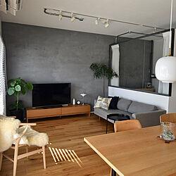 室内窓/yチェア/ムートンラグ/グリーンのある暮らし/リビング...などのインテリア実例 - 2020-12-05 22:49:08