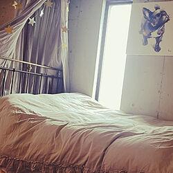 ベッド周り/寝ながら夜景/ふかふかお布団/一人暮らし/良い夢が見れますように(♡´艸`)のインテリア実例 - 2019-02-12 14:24:42